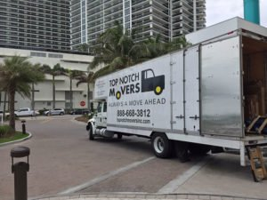 Top Notch Movers truck after long distance move to Miami