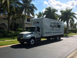 Moving truck in Weston