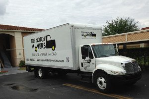 Top Notch Movers truck preparing a move in Orlando FL