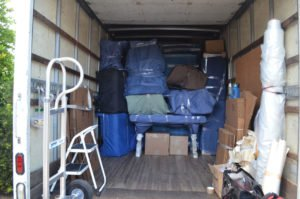Truck prepared for a local move in Hollywood FL