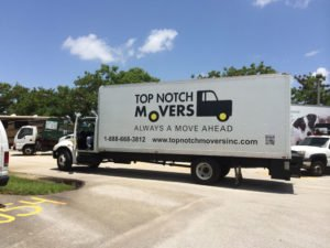 Moving truck in Fort Lauderdale for Top Notch Movers