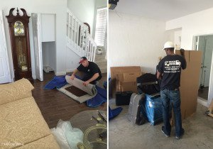 Plantation Movers preparing boxes