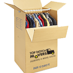 Wardrobe box with hangers, top 4 benefits of hiring a moving company