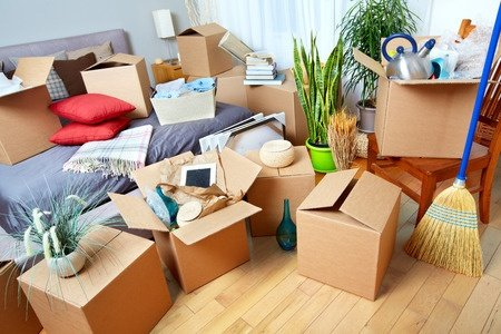 organizing the clutter, boxes and the bed, packing and moving tips