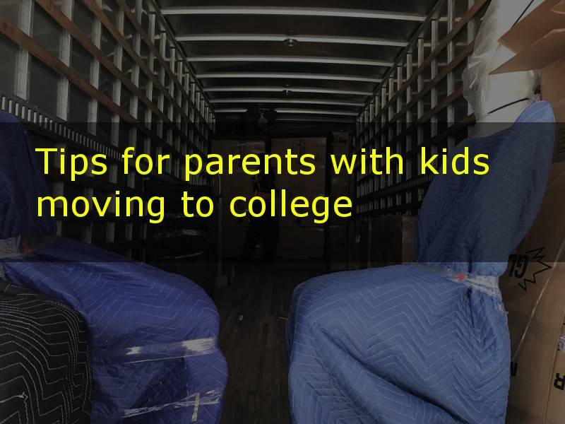 Tips for parents with kids moving to college
