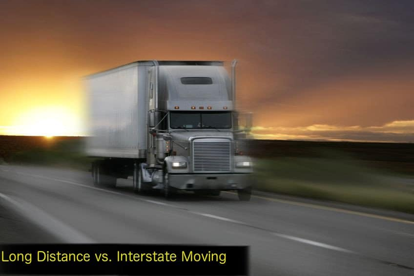 Long Distance vs. Interstate Moving