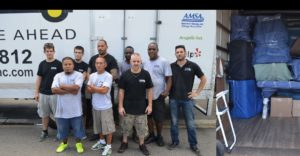 Our team in front of the truck, getting ready for a Key West bulk pickup job
