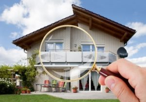 a house through a magnifying glass