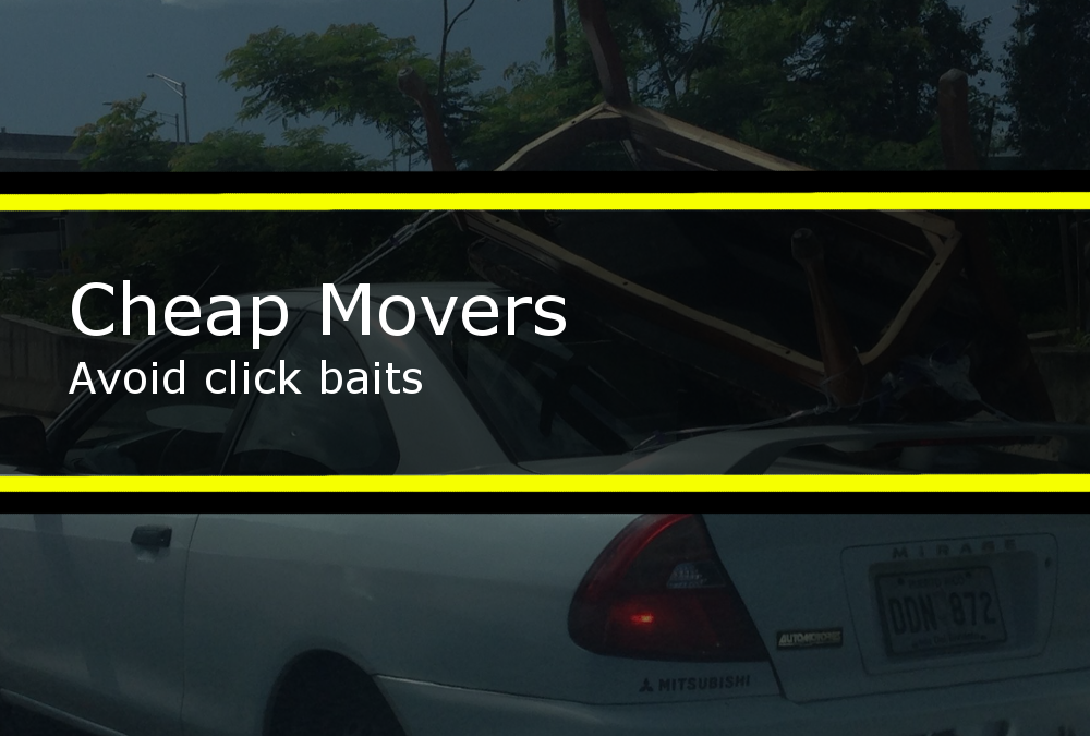 Cheap movers, avoid click baits