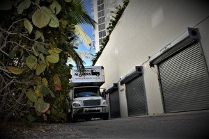 our truck on a local move in Sunny Isles Beach, FL