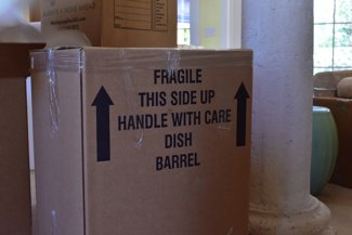 free box for a move dish pack