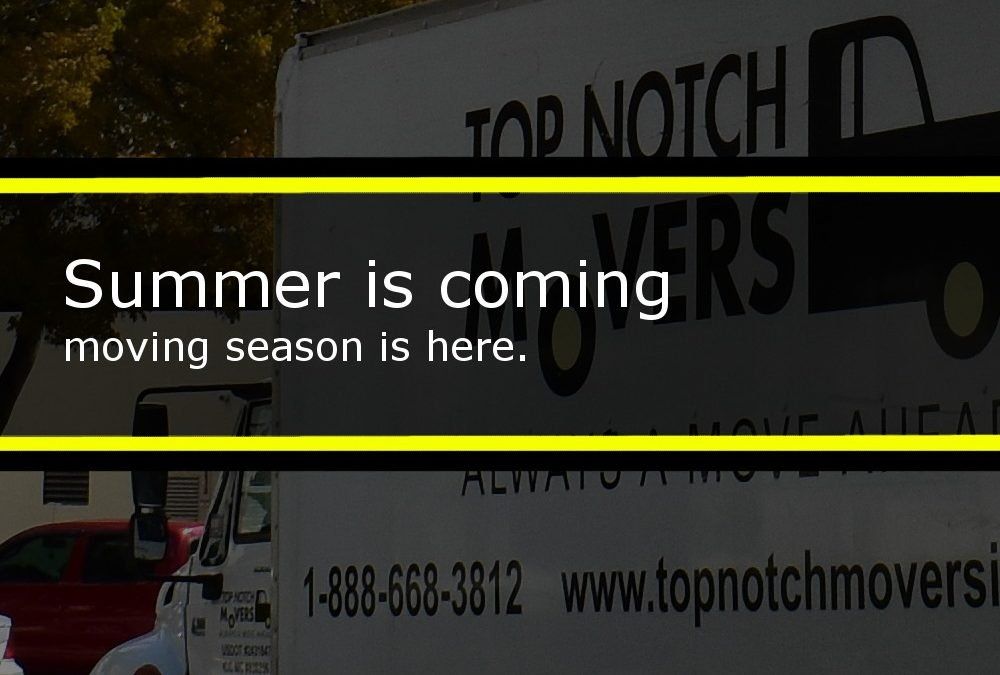 Summer is coming: moving season, all you need to know about it.